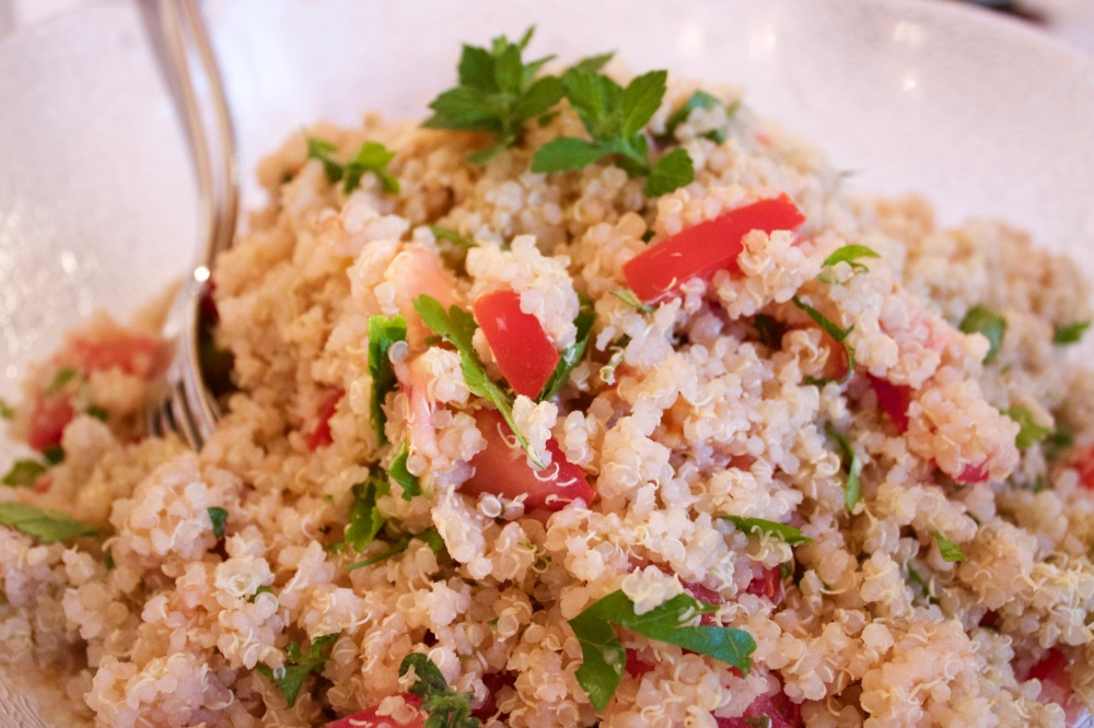 Quinoa and lemon grass tabbouleh *