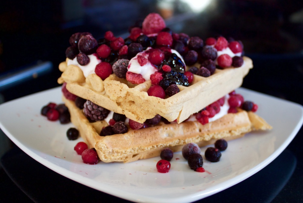 Peanut and buckwheat waffles *