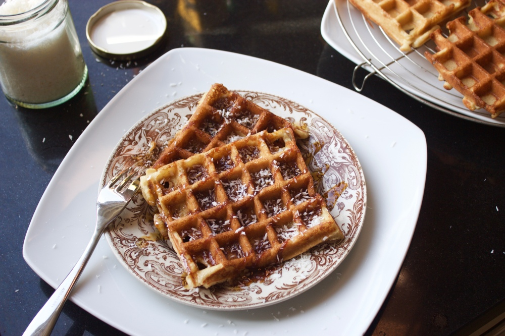 Traditional French waffles