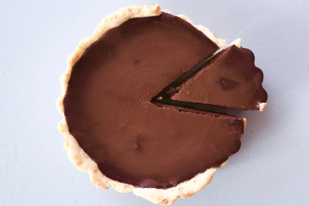 Dark chocolate ganache tarts *