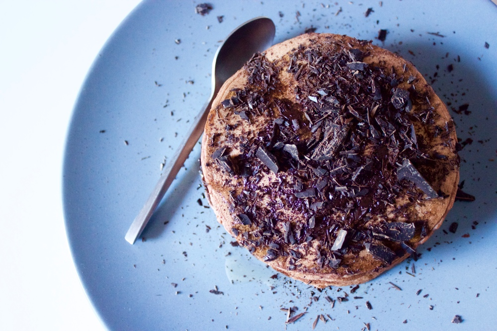 Cacao and millet pancakes *