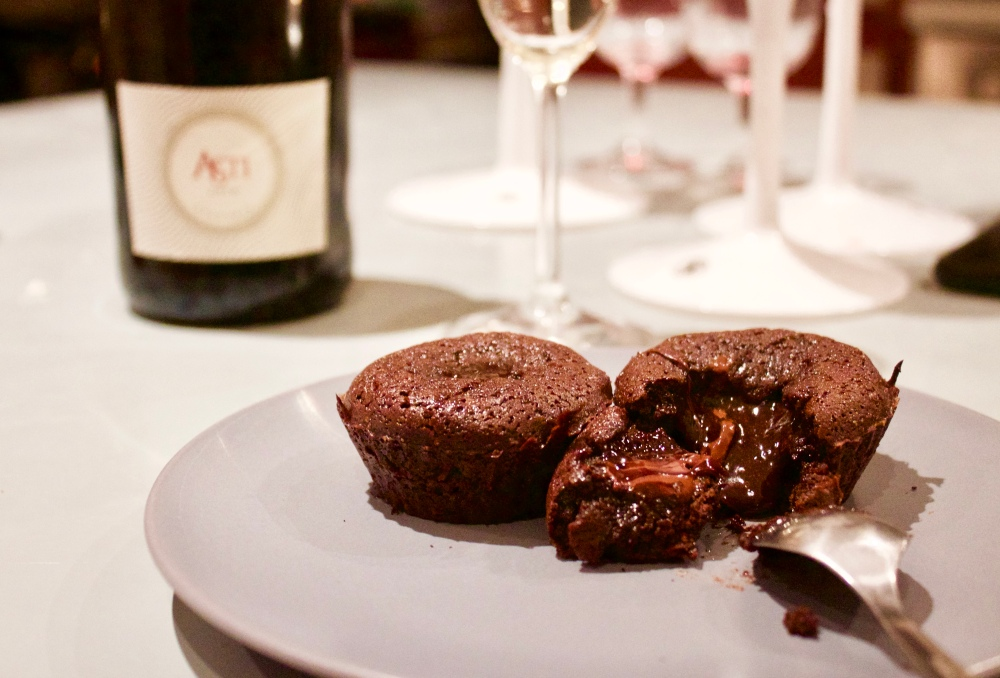 Melting heart gluten-free chocolate fondant *