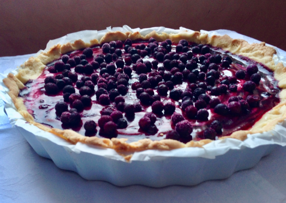 Blueberry lemon tart **