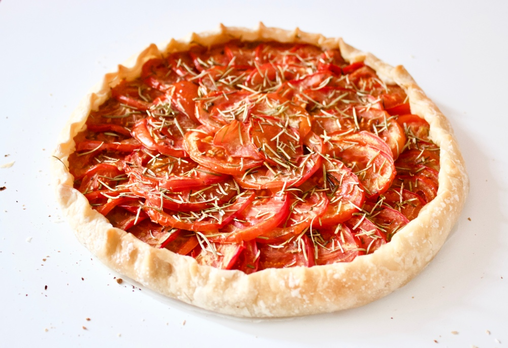 Rosemary, mustard and tomato tart *
